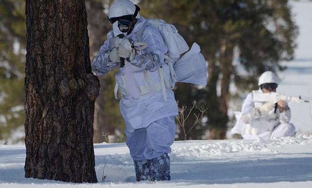 Komandolar zorlu kış eğitimini başarıyla tamamladı 4