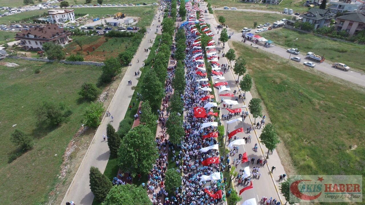 Merkezefendi'de Binlerce Kişi Yürüdü 48