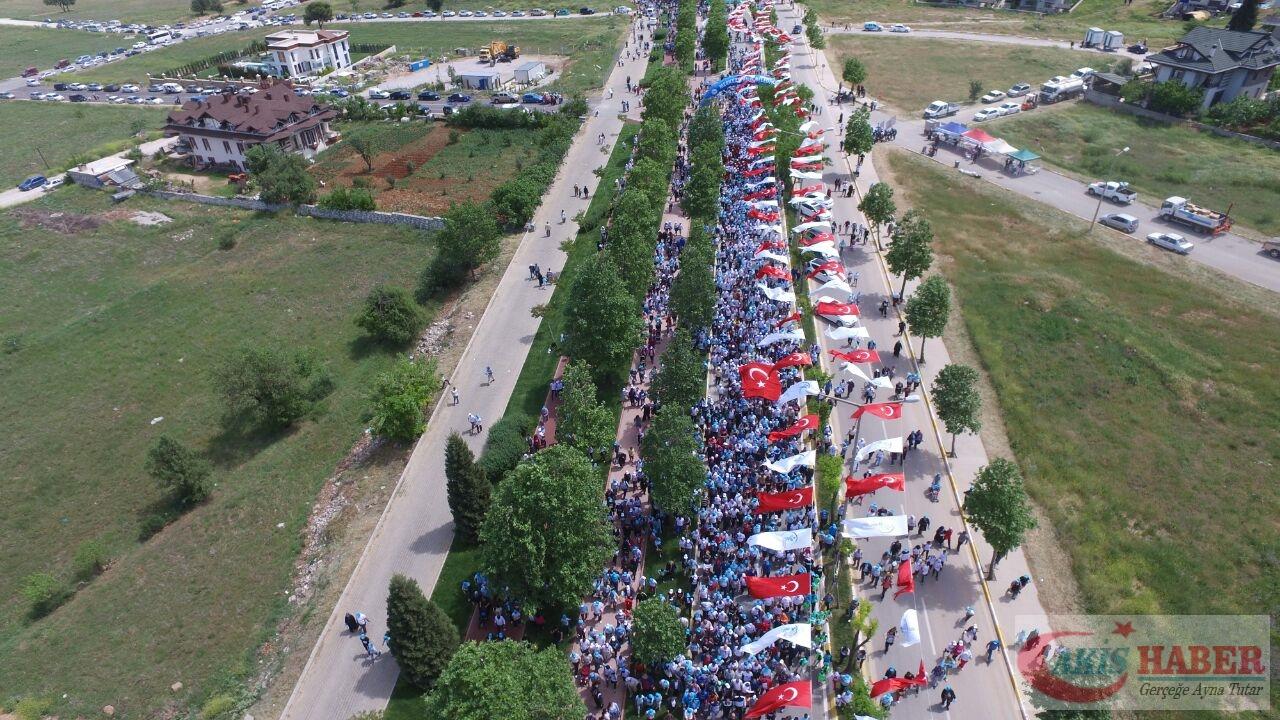 Merkezefendi'de Binlerce Kişi Yürüdü 96