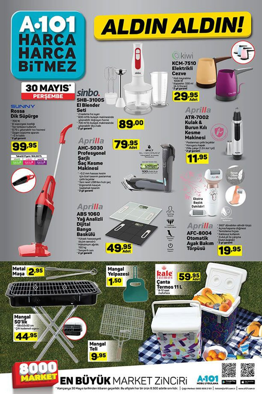 A101 30 Mayıs 2019 Aktüel Ürünler Kataloğu İndirimli Ürünler 6