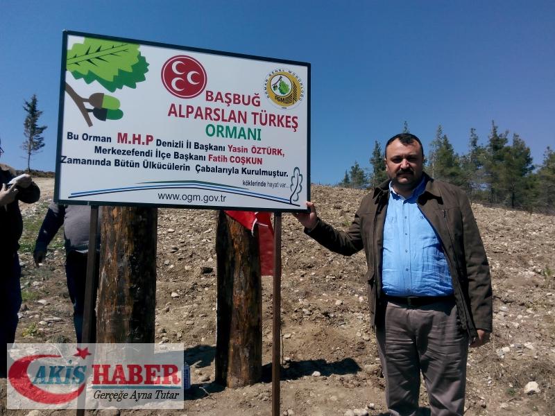 Başbuğ Türkeş Ormanına 300 Fidan Dikildi 37