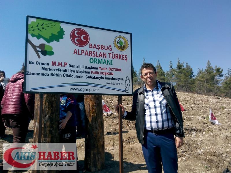 Başbuğ Türkeş Ormanına 300 Fidan Dikildi 40