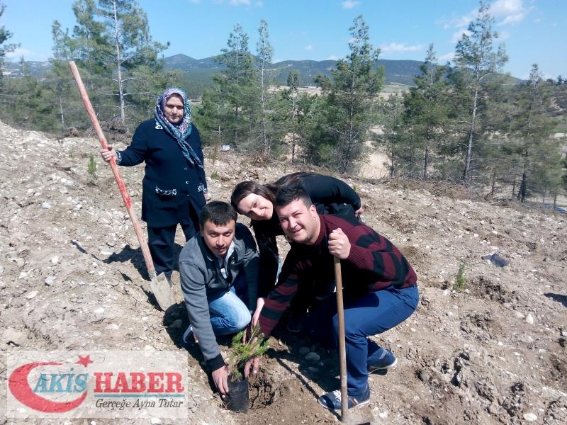 Başbuğ Türkeş Ormanına 300 Fidan Dikildi 51