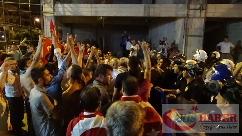 Teröre Protestoda Denizli'de Gergin Gece 36