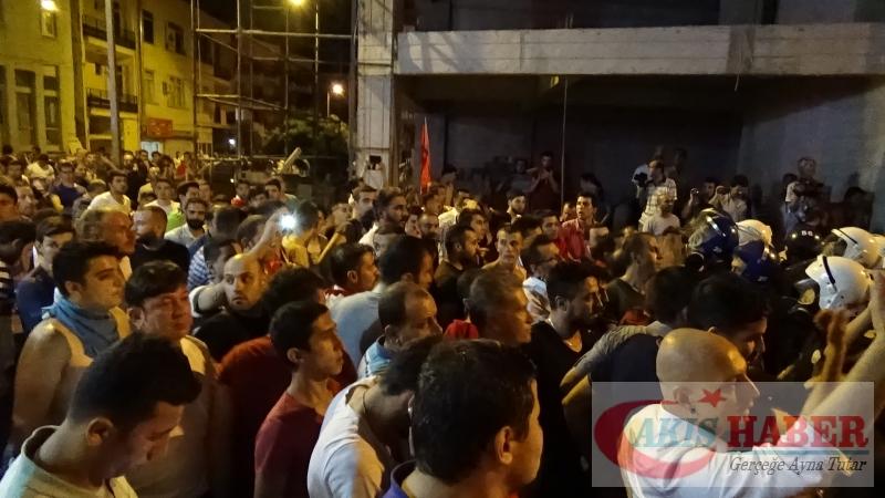 Teröre Protestoda Denizli'de Gergin Gece 38