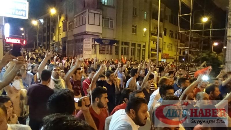 Teröre Protestoda Denizli'de Gergin Gece 45