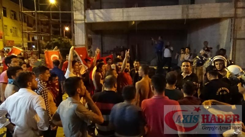 Teröre Protestoda Denizli'de Gergin Gece 51