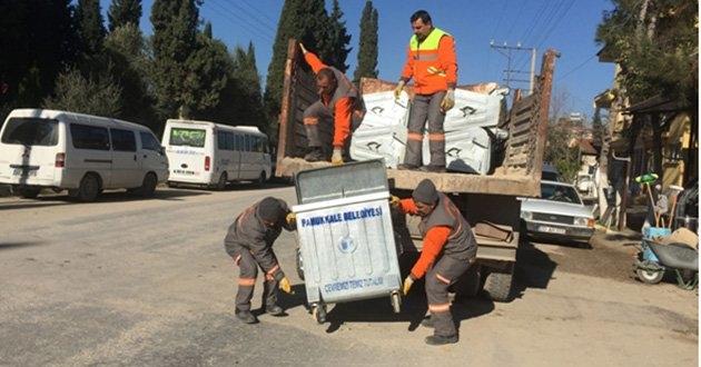Pamukkale Belediyesi Çöp Konteynerlerini Yeniliyor