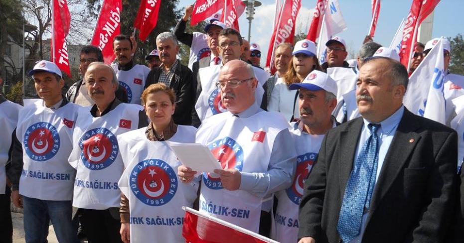 """Türk-Sağlık-Sen Meydanlara İndi ; """"Yetti Gari!"""""""