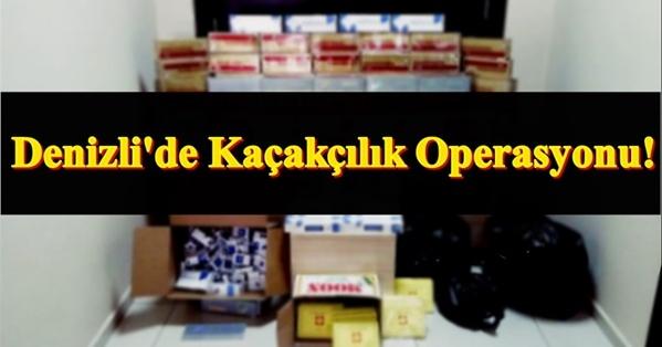 Denizli'de 7249 Paket Kaçak Sigara Yakalandı!