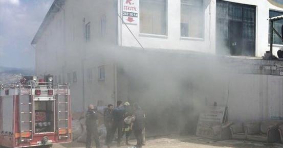 Denizli de Tekstil Fabrikası Yangını Korkuttu