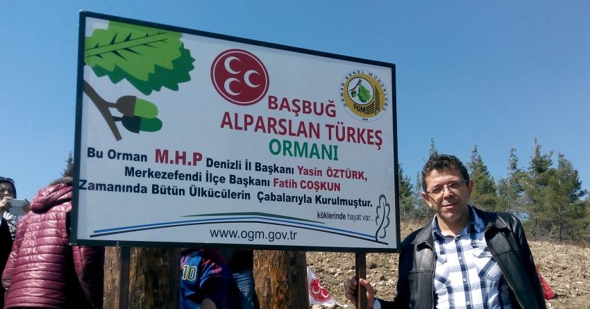 Başbuğ Türkeş Ormanına 300 Fidan Dikildi