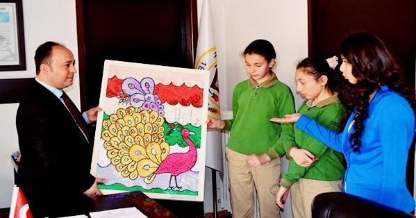 Öğrencilerden Başkan Taylan'a Teşekkür Ziyareti