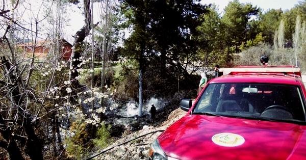 Çameli'de Korkutan Yangın