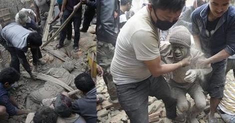 Nepal'de Enkazdan ceset Fışkırıyor