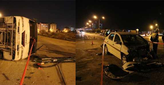 Denizli'de Kaza 1 Ölü, 20 Yaralı!