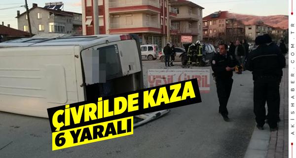 Çivril Sanayi Yolunda Kaza,6 Yaralı