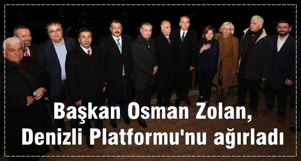Başkan, Denizli Platformu'nu ağırladı