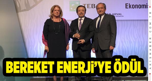 Birincilik Ödülü Bereket Enerji'nin