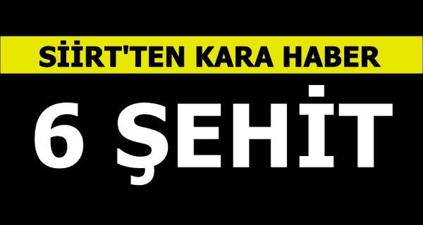 Siirt'te 6 Korucu Şehit 7 Yaralı