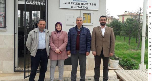 İYİ Partili Şule Türkarslan Muhtar Ziyaretinde