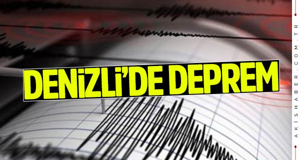 Denizli'de 3.4 şiddetinde korkutan deprem