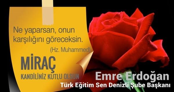 Emre Erdoğan Miraç Kandili Kutlaması