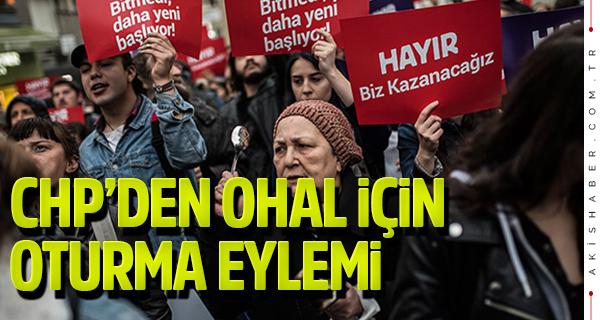 CHP'den Denizli'de OHAL için oturma eylemi!