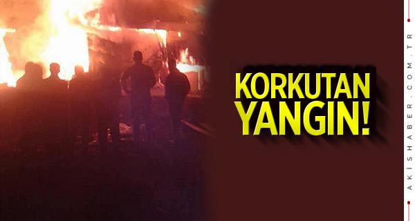 Denizli'de korkutan yangın! İki ev alevlere teslim