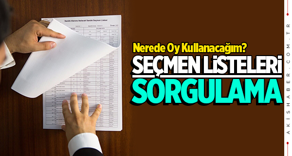 Seçmen kütükleri askıda! e-Devlet YSK seçmen listeleri sorgulama