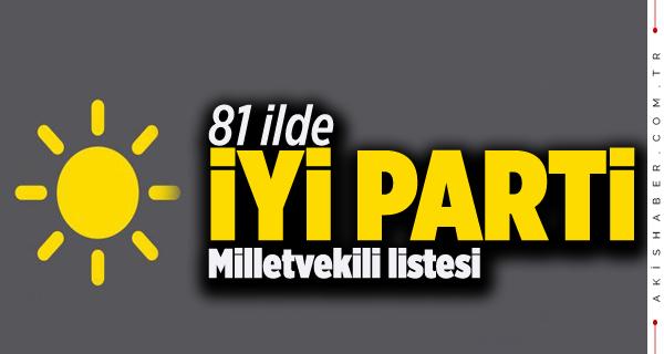 İl İl İYİ Parti Milletvekili Adayları