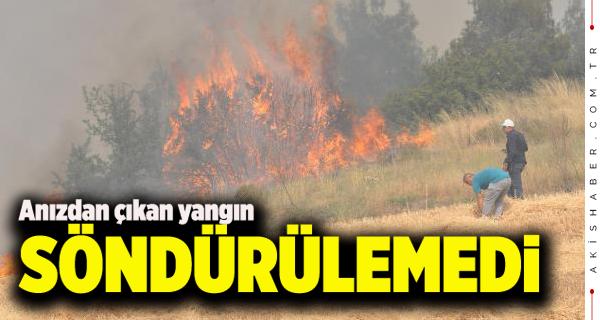 Pamukkale'de Korkutan Yangın