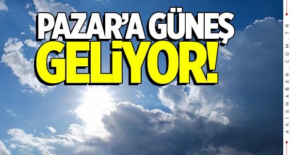 Denizli'de Pazar günü güneş açıyor!
