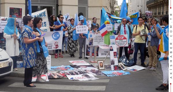 Çin Zulmü, Fransa'da Protesto Edildi