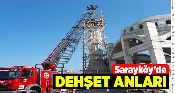 54 Yaşındaki Adam Minarenin içine Düştü