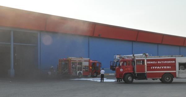 Denizli'deki Et ve Balık Kurumu Kombinası'nda Trafoda yangın Çıktı