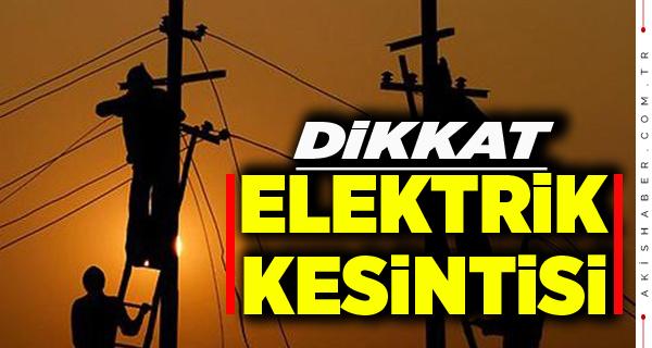 ADM Elektrik'ten Kesinti Uyarısı
