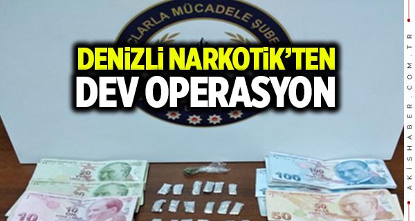 Denizli Narkotik'ten başarılı uyuşturucu operasyonu