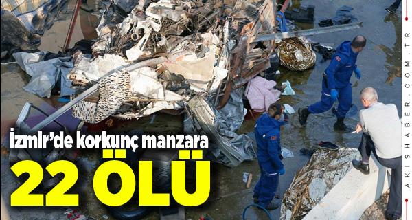 İzmir'de Feci Kaza! 22 Kişi Öldü