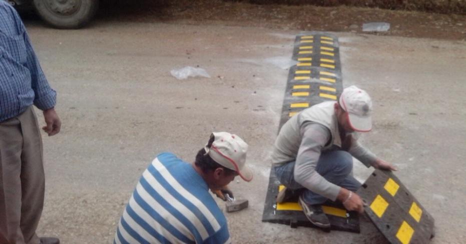 Tavas Belediyesi Yol Güvenliği Çalışmalarına Devam