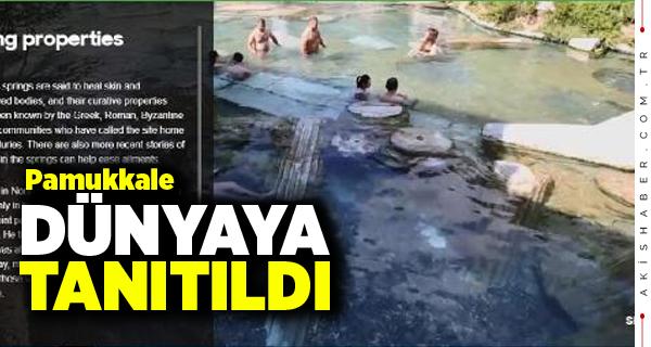 Pamukkale BBC'nin Travel Sayfasında