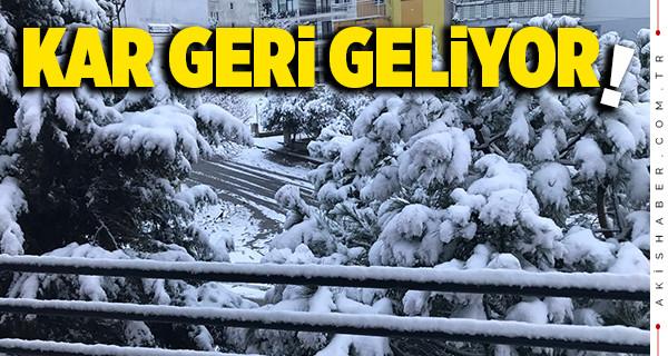 Denizli'de 11 ilçede yoğun kar yağışı alarmı!