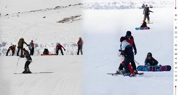 Denizli Kayak Merkezine Akın Ettiler