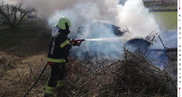 Pamukkale'de Panikleten Yangın