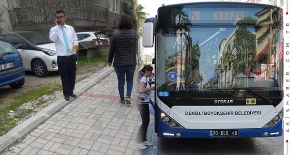 Otobüs Şoföründen Takdirlik Hareket