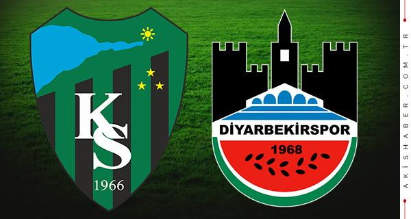 Kocaelispor Diyarbekirspor canlı izle maç skoru