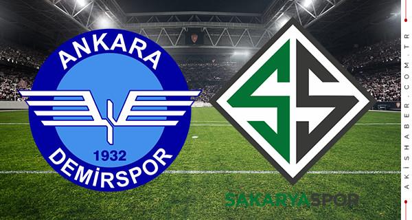 Ankara Demirspor Sakaryaspor canlı izle maç skoru