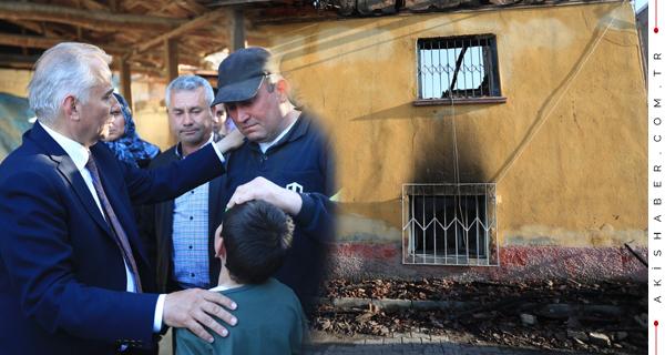 Evleri Kül Olan Aileye Sevgi Eli Uzanıyor