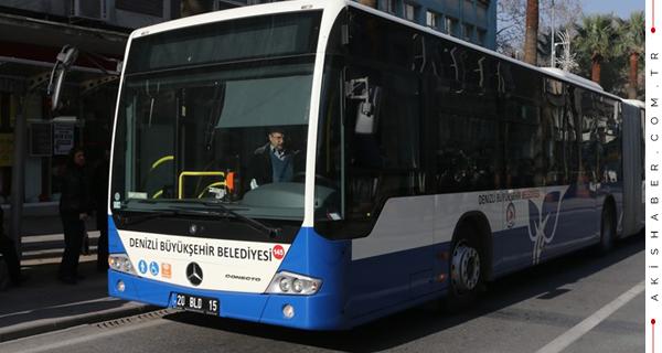 Denizli'de Otobüsler O Görevlilere Ücretsiz