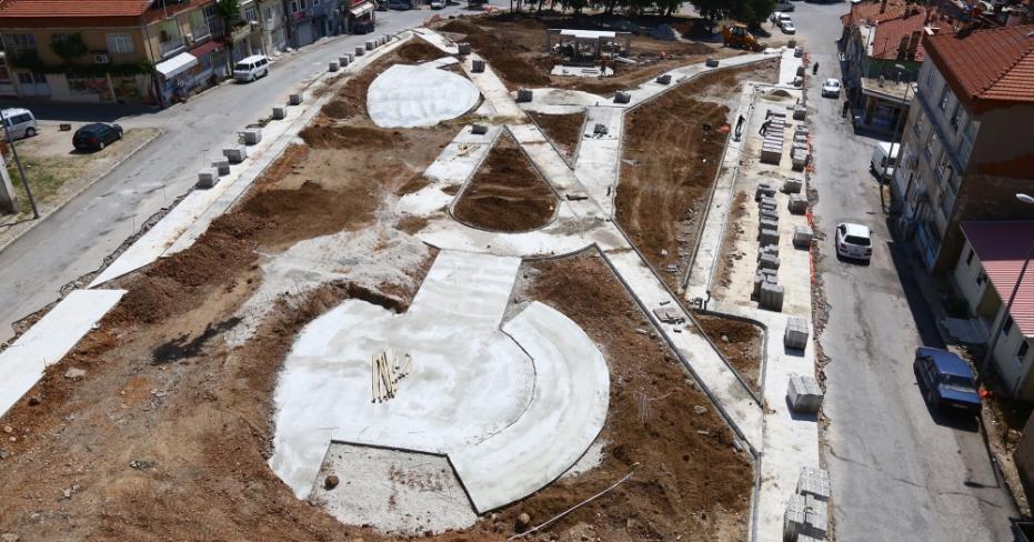 Serinhisar Park ve Meydan Projesi Sürüyor